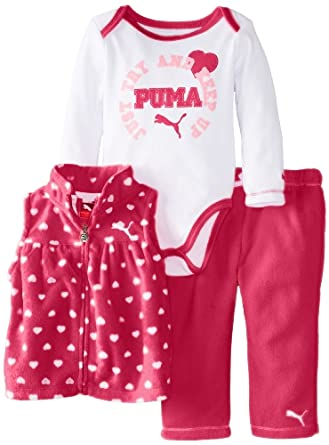 Amazon PUMA Baby Girls Newborn New Born 3 Pack Vest