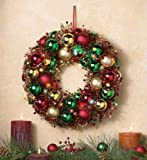 Lighted Battery-Operated Christmas Ornament Wreath By Collections Etc