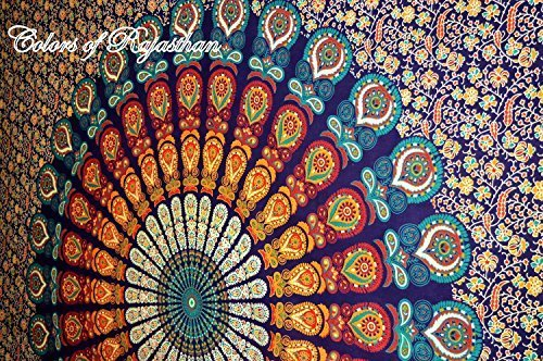 COR's Multi-colored Mandala Tapestry Indian Wall Hanging, Be