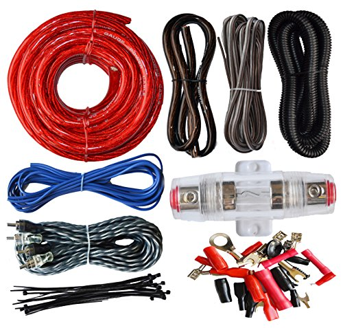 SoundBox Connected 4 Gauge Amp Kit Amplifier Install Wiring Complete 4 Ga Installation Cables 2200W (Amp Wire 4 Gauge compare prices)