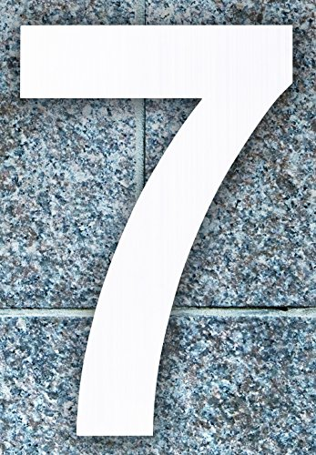 QT Modern House Numbers 6 Inch Brushed Stainless Steel Number