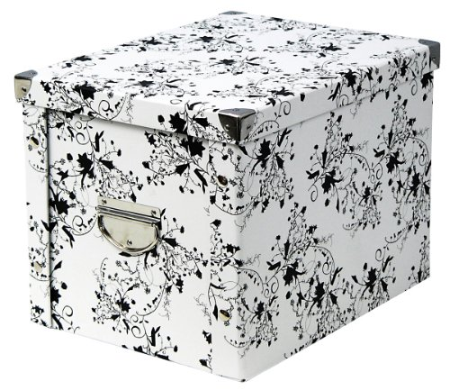 17849 'floral' Storage Box Cardboard 27.5 X 36 X 26.5 Cm White By Zeller