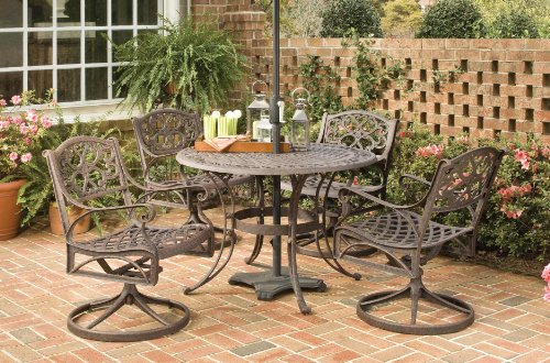 Home Styles 5555-325 Biscayne 5-Piece Outdoor Dining Set, Rust Bronze Finish, 48-Inch image