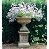 Medium Garden Planter - Victorian Plant Pot on Plinth