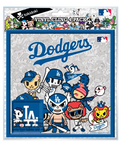 National Design TokiDoki Los Angeles Dodgers Vinyl Cling (4-Pack)