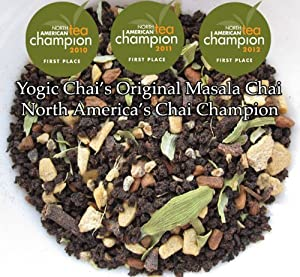 Yogic Chai Original Masala Chai, Chai Champion at North American Tea Championship, 4oz loose leaf tea