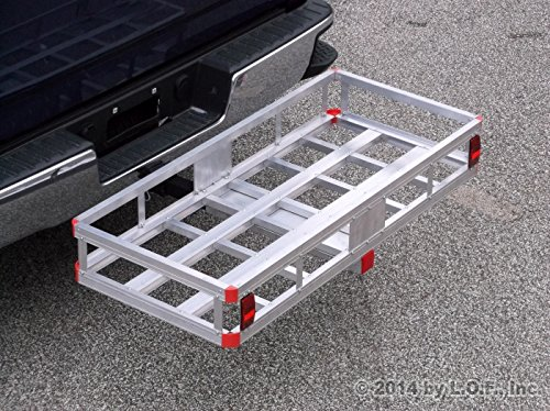 "Find Discount 500 Pound Aluminum Hitch Cargo Carrier Basket 2"" With Hitch Pin"