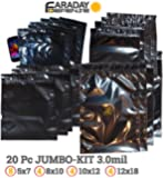 (20) Faraday Cage EMP/ESD Bags Complete 20pc X-Large Kit Yellow Shield - Survivalists/Preppers