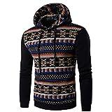 Men's Sweater,Neartime Retro Long Sleeve Hoodie Hooded Sweatshirt Men Jacket Coat Outerwear (XXL, Black)