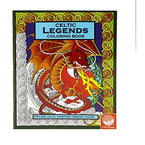 MindWare - Celtic Legends Coloring Book - 23 Designs - Teaches Creativity and Fosters Imagination - 1