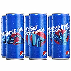 Pepsi Soft Drink Can 250ml each (Pack of 6)