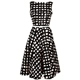 Gaga Womens Elegant Vintage Sleeveless Big Swing Evening Dress L 1