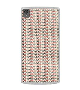 ifasho Animated Pattern With Love writing Back Case Cover for OnePlus X