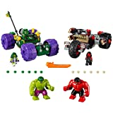 LEGO Marvel Super Heroes Hulk vs. Red Hulk 76078 Superhero Toy (Color: red)