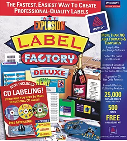 Art Explosion Label Factory Deluxe