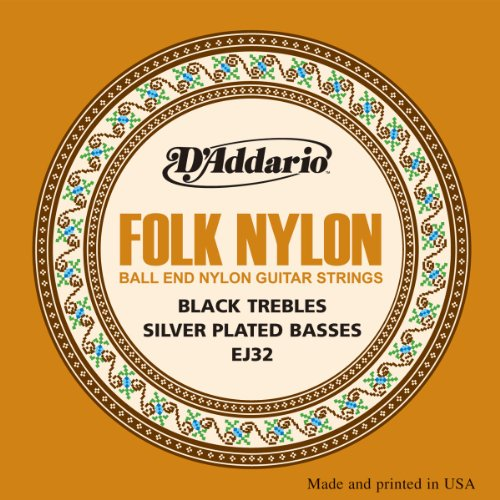 D'Addario EJ32 Folk Nylon Guitar Strings, Ball