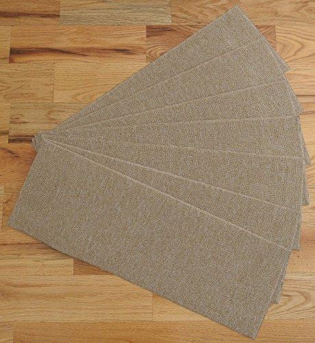 ottomanson skid resistant rubber backing non slip carpet stair treads machine washable area rug. Black Bedroom Furniture Sets. Home Design Ideas
