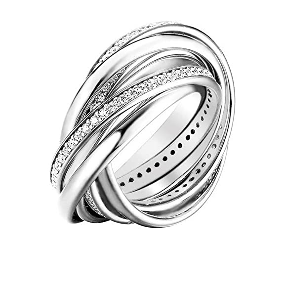 Joop! Women 9 k (375) Silver Zircon Rings