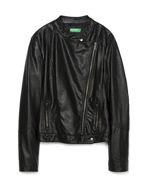 Amazon.co.jp: (ユナイテッドカラーズオブベネトン) UNITED COLORS OF BENETTON フェイクレザーライダーズジャケットP1U: 服&ファッション小物