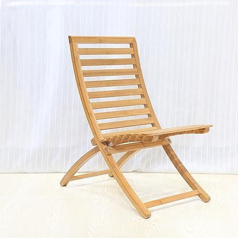 JJZDYZ Silla plegable de madera sólida Reclinable perezoso creativo Moderno simple interior Balcón silla de ocio adulto (41 * 70 * 77 cm) Silla plegable