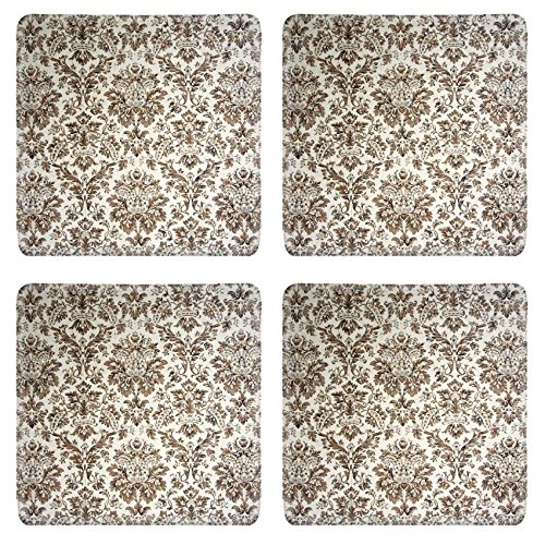 Luxlady Square Coasters IMAGE ID 1807875 vintage wallpaper with brown ornaments (Zelda For Wi compare prices)