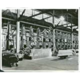 Vintage Photo- View of airplane factory