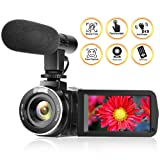 Camcorder Digital Video Camera Full HD 1080P 30FPS Vlogging Camera With External Microphone and Remote Control (Color: B9)
