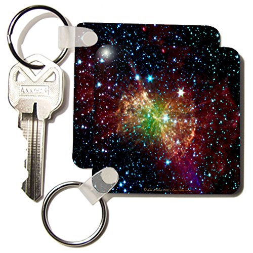 Lee Hiller Designs Space - In the Cosmos - Dumbbell Nebulapia - Key Chains - set of 2 Key Chains (kc_61548_1)