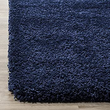 Safavieh Milan Shag Collection SG180-7070 Navy Area Rug (4 x 6)