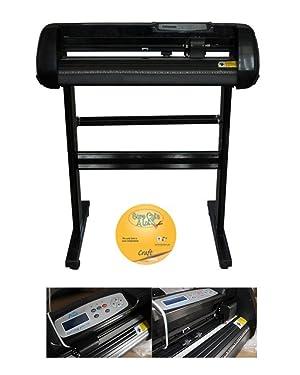 Techtongda 24'' Vinyl Cutter Plotter 5In1 Heat Press Transfer Machine Epson C88 Printer CISS Vinyl Sublimation Mug Plate Tape Beginning Business Bundle