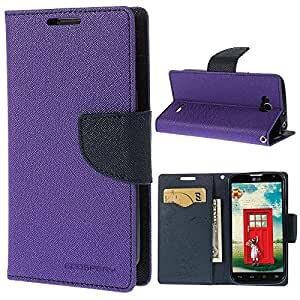 Online Street Wallet Style Flip Cover For Apple Iphone 6/6S - (Orchid Purple)