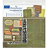 Karen Foster Design Themed Paper and Stickers Scrapbook Kit, In Memory
