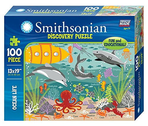 Smithsonian 100-piece Ocean Life Discovery Puzzle (Smithsonian Motor compare prices)