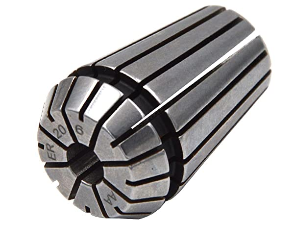 Wokesi Set 4Pcs ER20 2mm-3mm Clamping Range Spring Collet Set For CNC Lathe Machine Milling Chuck Holder Tool,RUN OUT 0.0002 (ER20-6 5-6mm) (Tamaño: ER20-6 5-6mm)