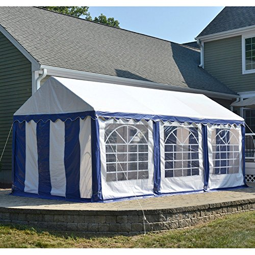 Shelter logic 25891 party tent with 8 leg galvanized steel for Steel frame tents
