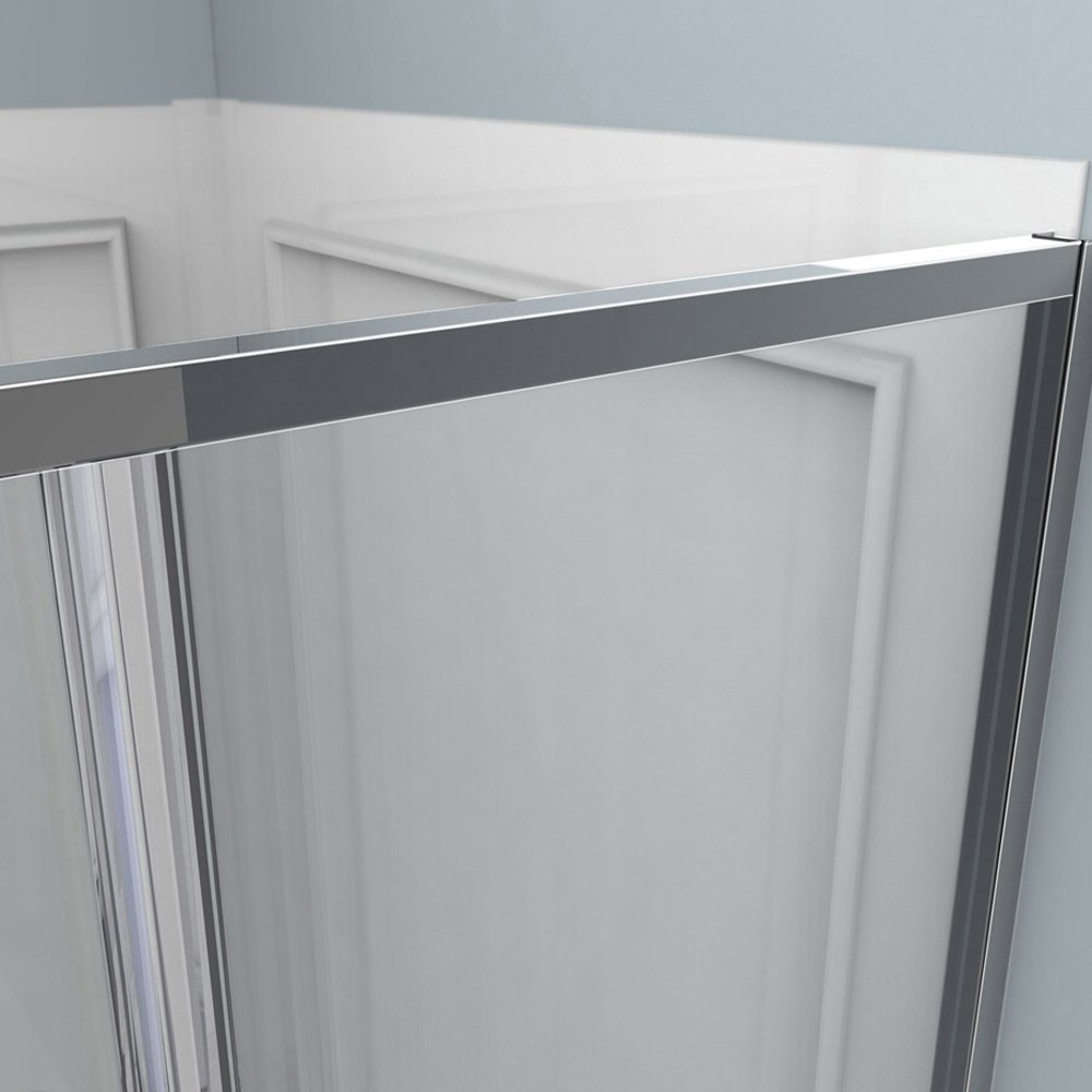 DreamLine Cornerview 36 in. D x 36 in. W Kit, with Corner Sliding Shower Enclosure in Chrome, White Acrylic Base and Backwalls