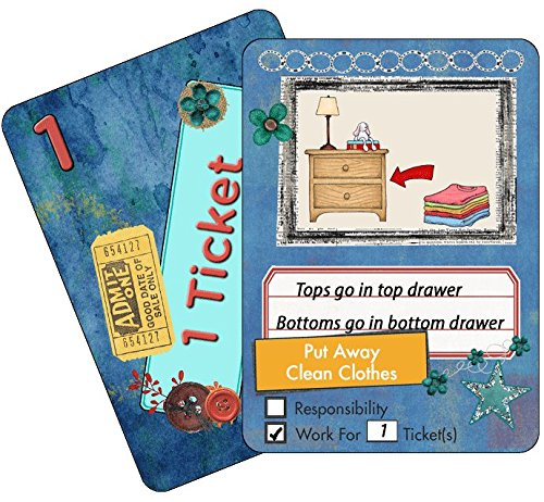 NEATLINGS Chore Cards Self-Care Deck ● 28 Self-Care Chores & 21 Ticket Cards ● Reward & Responsibility ● Dark Blue (Giants Tickets 2015 compare prices)