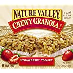 Nature Valley Chewy Strawberry Yogurt with Granola Bars 6 Pack 7.4 oz