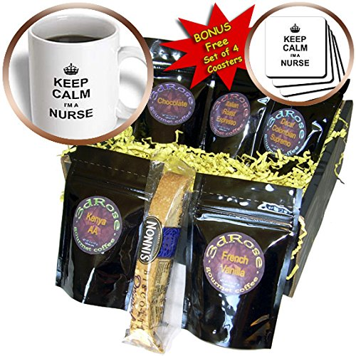 Cgb_194472_1 Inspirationzstore Typography - Keep Calm Im A Nurse - Nursing Pride - Funny Medical Profession Gift - Coffee Gift Baskets - Coffee Gift Basket