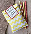 Outside the Box Papers Peach/Coral and White Polka Dot and Chevron Treat Sacks - Favor Bags Made in USA Wedding Birthday Party Supply- 48 Pack 5.5 x 7.5