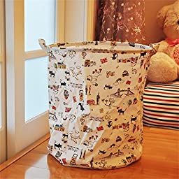 Happy- Multi-function Folded Cloth Art Cotton and linen Clothes Storage Bags , Folding basket ,40*50cm