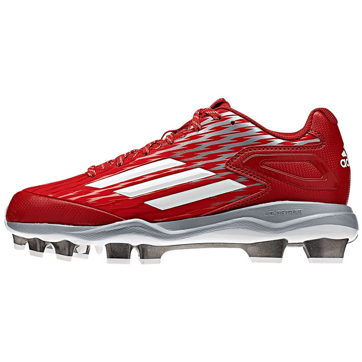 Adidas Women's Poweralley 3 Low Tpu Softball Cleats, Red/White, SZ 8