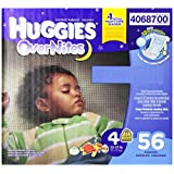 Night-time sometimes calls for a different level of protection, and Huggies overnites diapers are our most absorbent diaper. It's a simple way to give everybody sweet dreams. Fits babies and toddlers from 22 to 37 pounds. Our most absorbent diaper to...