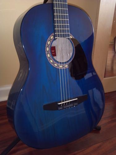 rogue starter acoustic guitar blue burst musical instruments. Black Bedroom Furniture Sets. Home Design Ideas