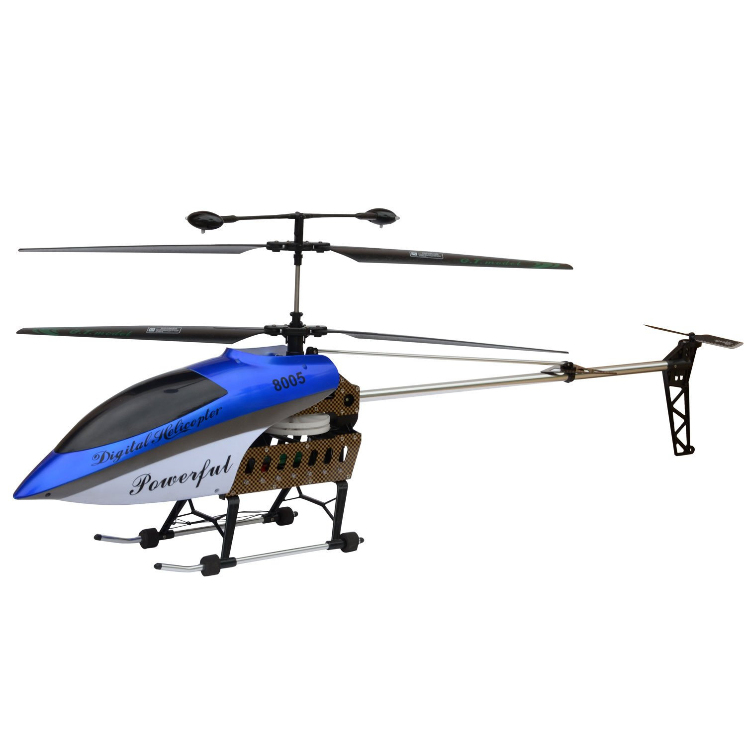 "HomCom 41"" Electric Flying 3.5CH Remote Control Dual Blade R/C Helicopter - Blue at Sears.com"