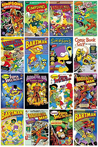 GB eye, The Simpsons, Comic Covers, Maxi Poster, 61x91.5cm