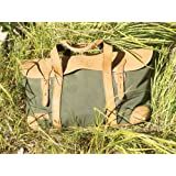 Short Weekender Canvas/ Leather Travel Bag (green)by Sandstorm Kenya