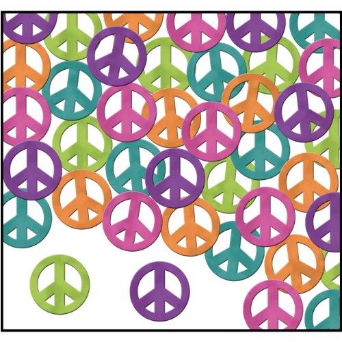 Fanci-Fetti Peace Signs (C/LG/O/PL/T) Party Accessory  (1 count) (1 Oz/Pkg)