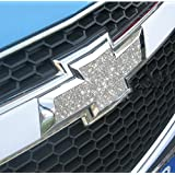 Chevy Cruze Front Rear Carbon Logo Cover Trim for 2009 2010 2011 2012 Chevy Cruze (Bling Silver)