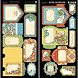 Graphic 45 Mother Goose Tags and Pockets Card Stock Sheets